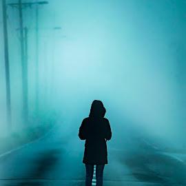 It by Marko Paakkanen - Digital Art Things ( tranquil, it, road, lonely, misty, mist,  )
