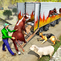 Offroad Truck Driver Farm Animals Transport Sim icon