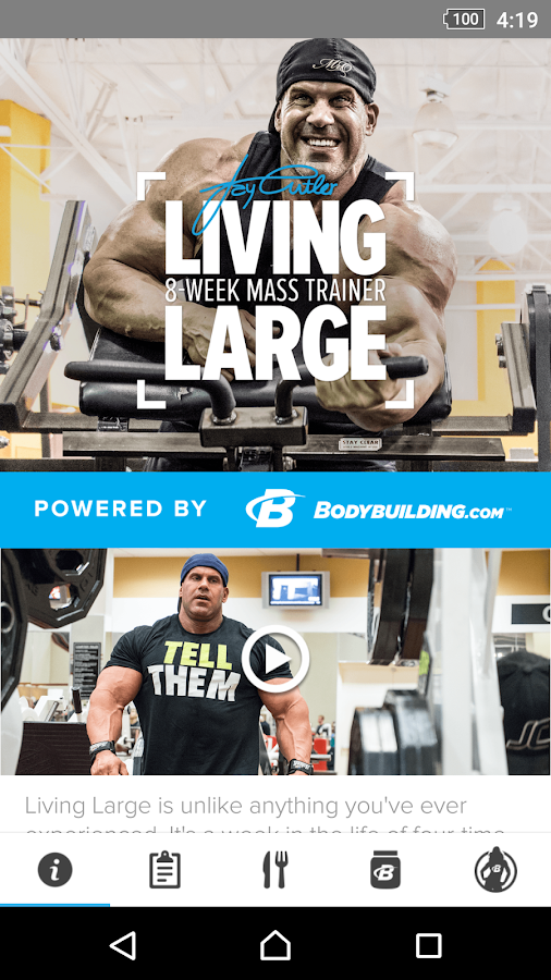 Living Large with Jay Cutler- screenshot