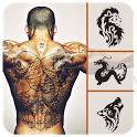 Tattoo Editor App - Tattoo My Photo Design for man icon