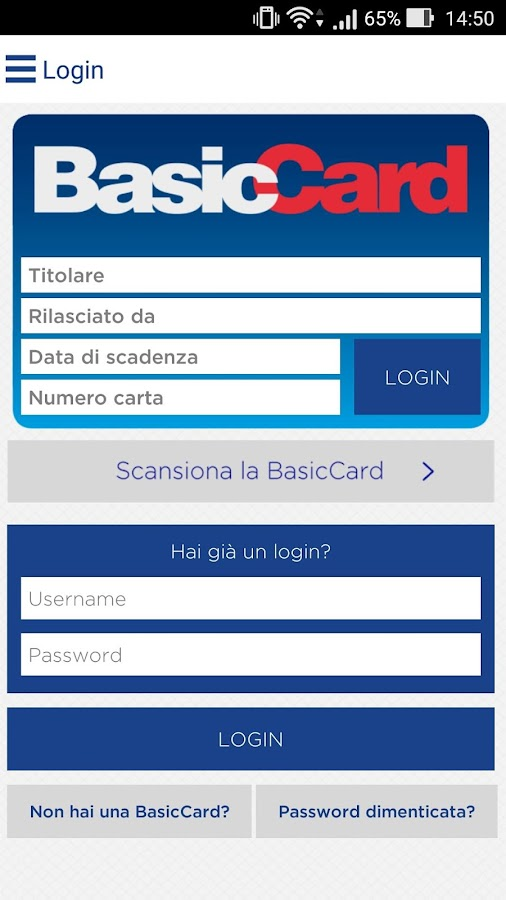 BasicCard- screenshot
