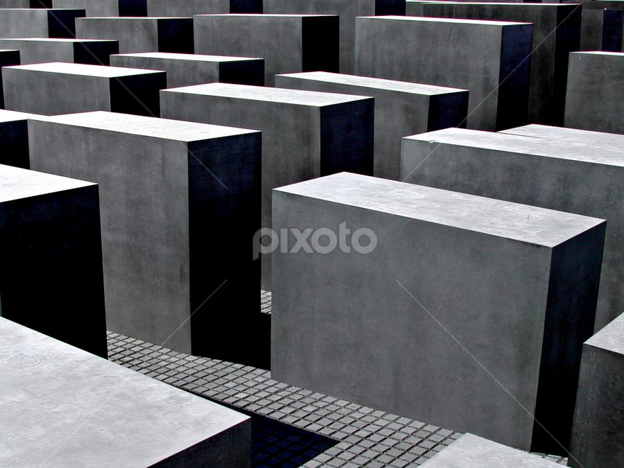 Berlin Memorial by Jacob Uriel - Travel Locations Landmarks ( europe, memorial, germany, berlin, holocaust )