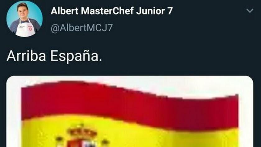 Captura de pantalla de la cuenta de Twitter de Albert.