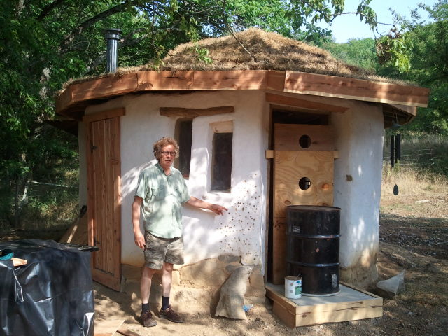 David with his cob sauna