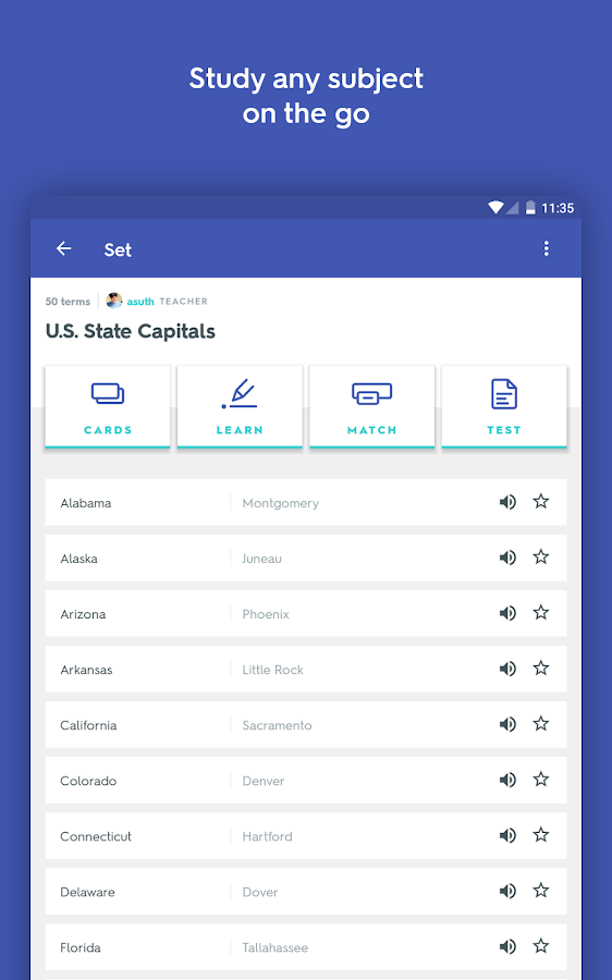 Quizlet Flashcards & Learning- screenshot