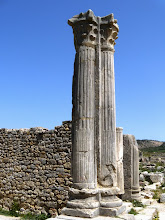 Photo: Volubilis - House along the Decumanus, entrance .......... Ingang van een huis aan de Decumanus