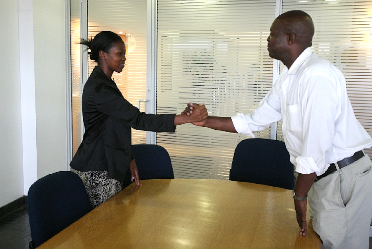 Job interview. Picture: THE SOWETAN/VATHISWA RUSELO