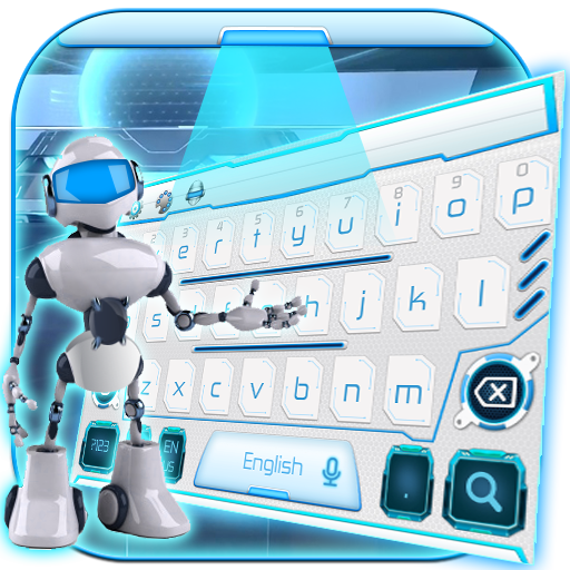 robot ai keyboard white future tech
