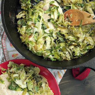 Herby 30 Minute Chicken and Brussels Sprouts Bake Recipe