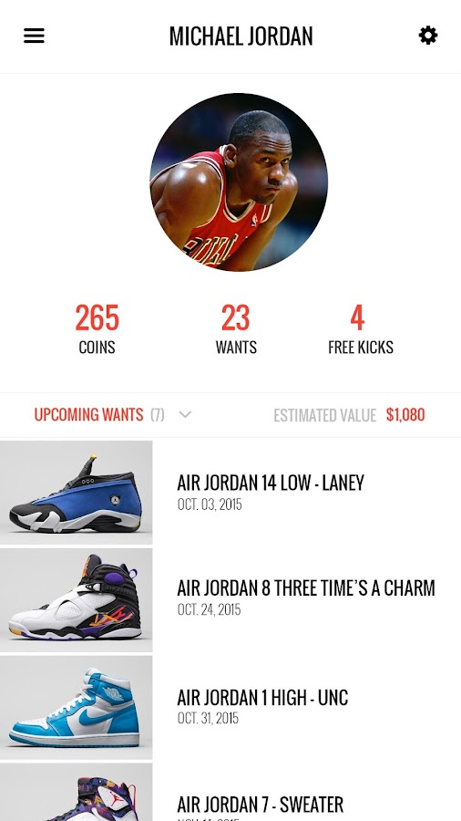 Shoes release date app