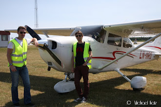 Photo: På neste leg til Groningen skal Michael være pilot.