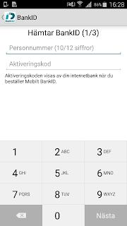 BankID säkerhetsapp screenshot 01