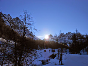 Photo: Verso la Punta Eco 2706m. sorge il sole.