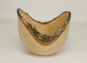 "Photo: Jim Allison 8"" x 8"" natural edge bowl [oak]"