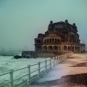 Alone in the storm by Doru Iachim - Buildings & Architecture Decaying & Abandoned ( wind, building, winter, cold, storm, alone, abandoned )