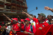 Cosatu members. Picture: REUTERS