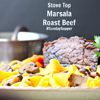 Easy stove top Marsala Roast Beef #SundaySupper