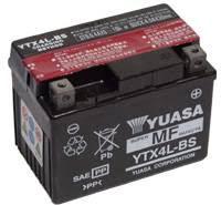 YUASA MC batteri YTX4L-BS LxBxH: 114x71x86mm