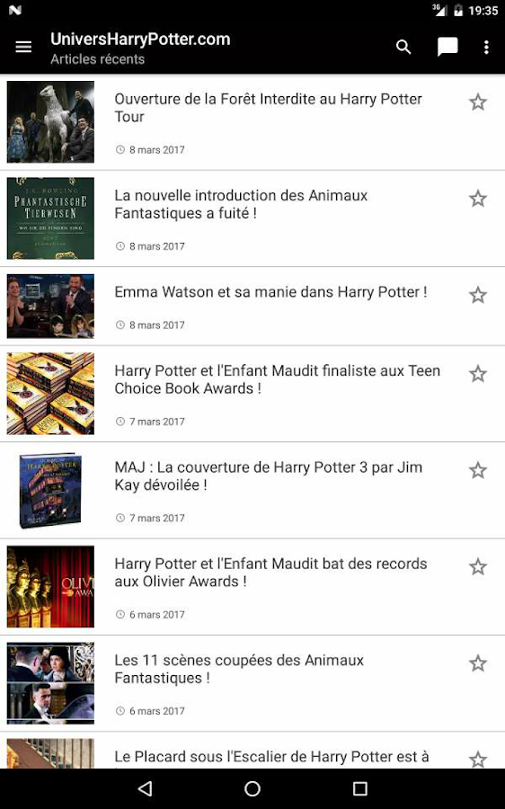 UniversHarryPotter.com- screenshot