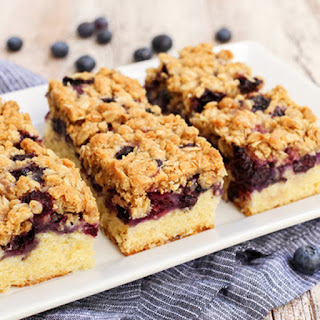 Blueberry Oat Crumble Bars.