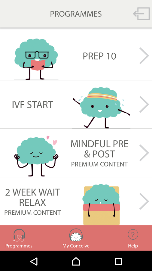 Mindful IVF- screenshot