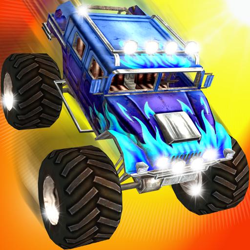 休闲のモンスタートラック スタントスピード レース LOGO-記事Game
