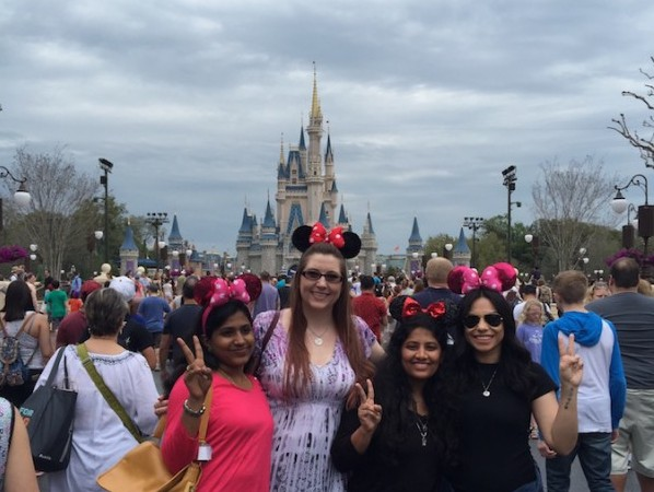 Our team at Disney World with mouse hats