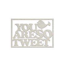FabScraps Woodlands Friends Die-Cut Chipboard Word - You Are So Tweet