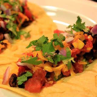 Gourmet Black Bean Tacos.