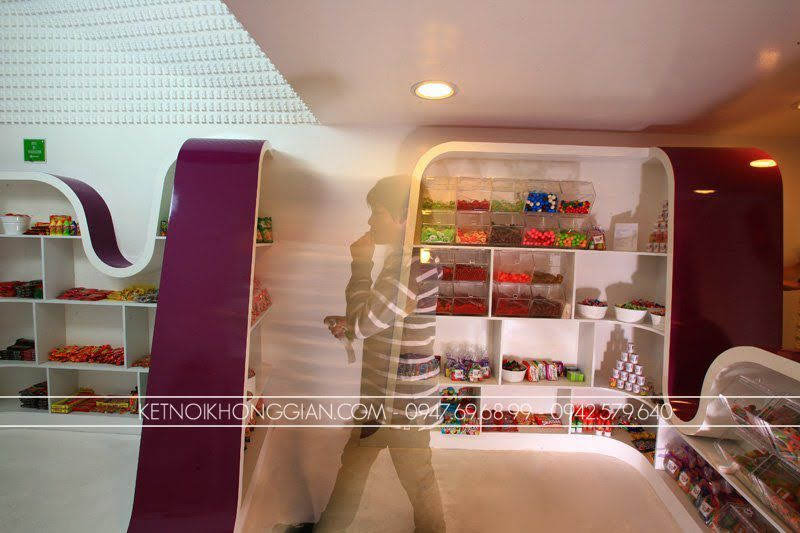 thiết kế shop kẹo candy stop 12