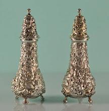 Photo: http://www.RareSterling.com RareSterlng.com - Kirk Stieff Repousse Salt and Pepper Shakers