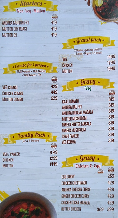 Bikkgane Biryani menu 3
