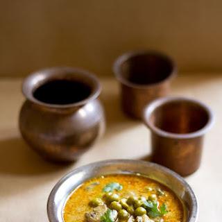 Mushroom Curry Recipe, South Indian Mushroom Peas Curry.