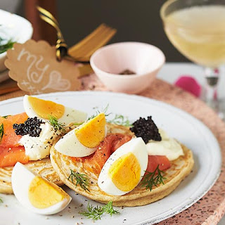Blinis With Boiled Egg & Smoked Salmon