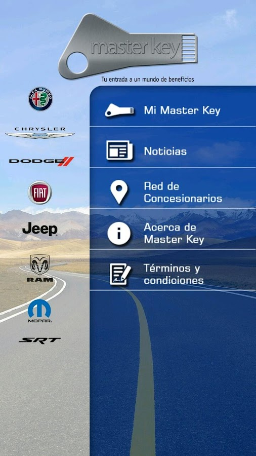 Master Key Fiat Chrysler V2: captura de pantalla