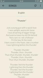 Download Imagine Dragons Lyrics For PC Windows and Mac apk screenshot 5