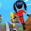 Subway Lady Bug Run Free Game icon