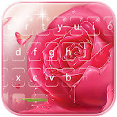 Pink rose Keyboard theme