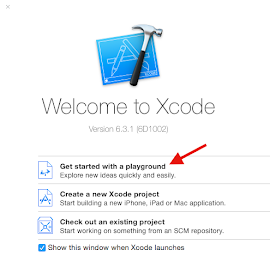 Launch Xcode Playground