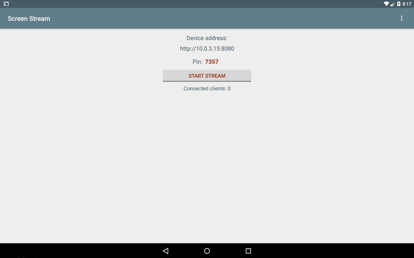 Screen Stream over HTTP