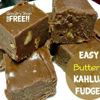 Easy Buttery Kahlua Fudge!.