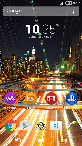 android For Xperia Theme Highway Screenshot 0