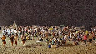 Imagen de archivo de las celebraciones de San Juan en la playa de la capital