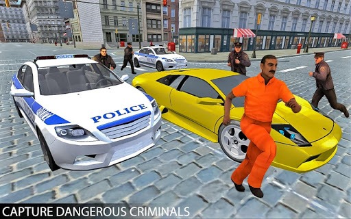 Drive Police Car Gangsters Chase : Free Games  screenshots 8
