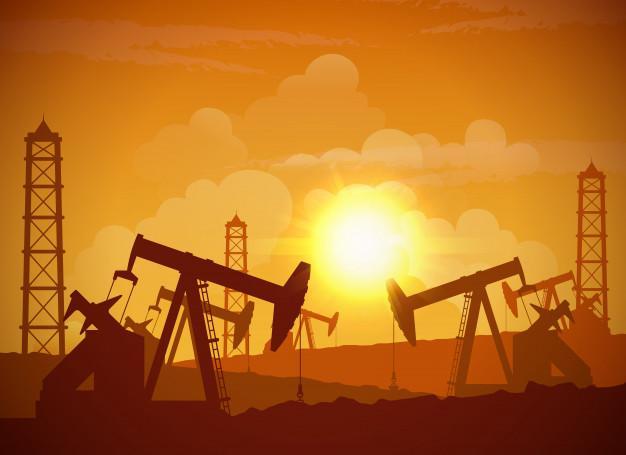 Póster del campo petrolífero