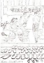 Photo: 蓮池海會2012.07.31鋼筆 兄弟皈依齊念佛 洗心革面學彌陀 出獄方能見高下 心是向佛還是魔