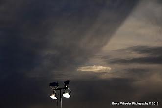 Photo: a strange band of darker clouds got my attention . . .