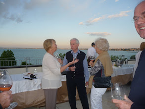 Photo: Mille Miglia tour 2012 Wednesday, day 6, drinks reception on the roof terrace of our hotel in Desenzano del Garda, Lake Garda