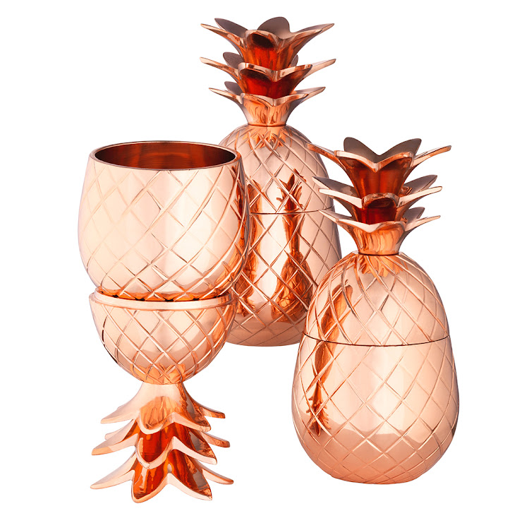 Elyx Copper Mini Pineapples Set of 3