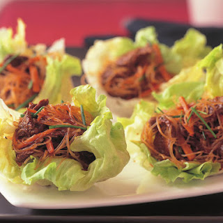 Lemon Grass Lamb in Lettuce Cups